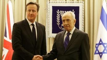 David Cameron & Shimon Peres