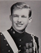 Trump as young man at Military Academy