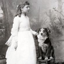 Helen Keller & dog 1