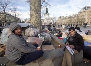 Migrants Afghans in Paris