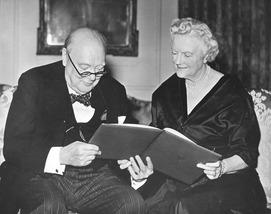 Winston Churchill  & Clementine 1