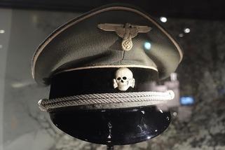 SS cap with skull emblem (Totenkopf)