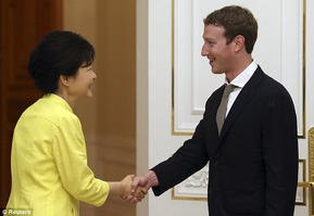 Korean hand shaking 3 Mark Zuckerberg