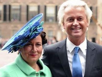 Geert Wilders & wife Krisztina 1