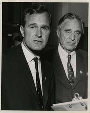 Prescott & George Bush 1