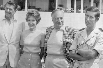 Walter Annenberg & Reagan & Prince Charles