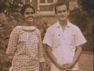 Yuri Bezmenov with Indian girl