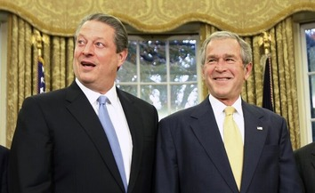 Al Gore & Georeg Bush 3