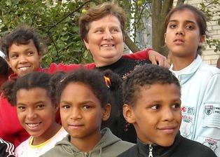 Biracial, Afro European kids 1