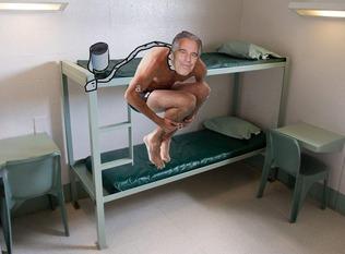 Jeffrey Epstein in jail
