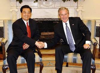 Hu Jintao & George Bush 2