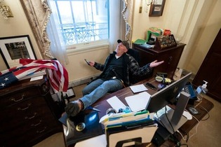 Richard Barnett in the office 1