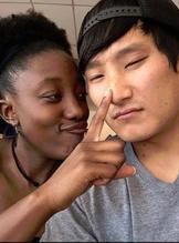 Black & ASian couple 1