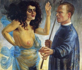 Otto Dix self-portrait-with-muse