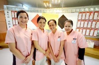 フィリピンからの介護師
