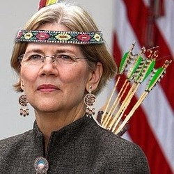 Elizabeth Warren as Indian