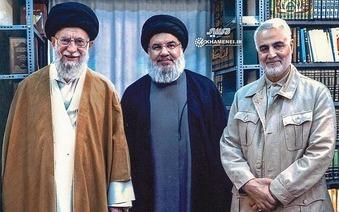Qassem Soleimani & Ali Khamenei & Hassan Nasrallah