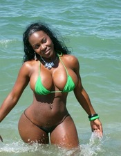 black woman in bikini