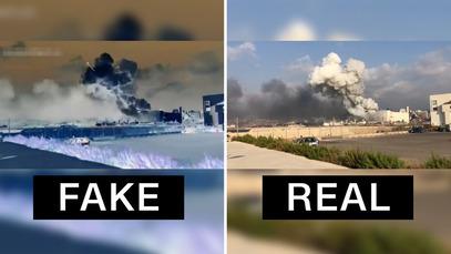 Beirut explosion fake footage