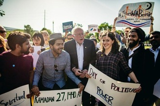 Bernie Sanders with Muslims 2
