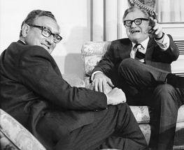Nelson A Rockefeller & Henry Kissinger 1