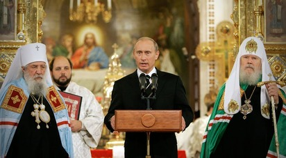 Putin in Church 1