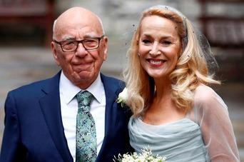 Rupert Murdoch & Jerry Hall 1133