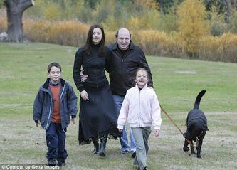 Boris Berezovsky & Elena & Kids