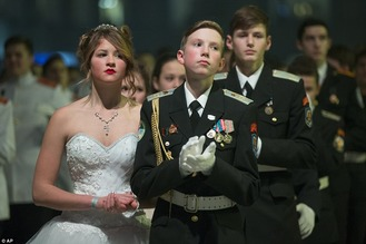 Russian cadets at Kremlin ball 1