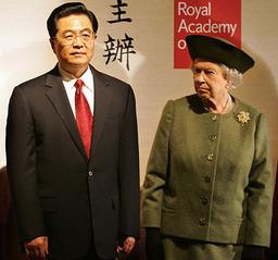 胡錦濤 エリザベス女王