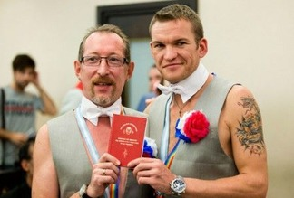Gay couple in Russia 23