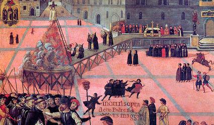 Girolamo Savonarola burning 2