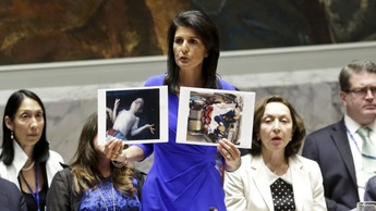 Syria attack Nikki Haley