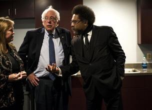 Bernie Sanders & Cornel West 1