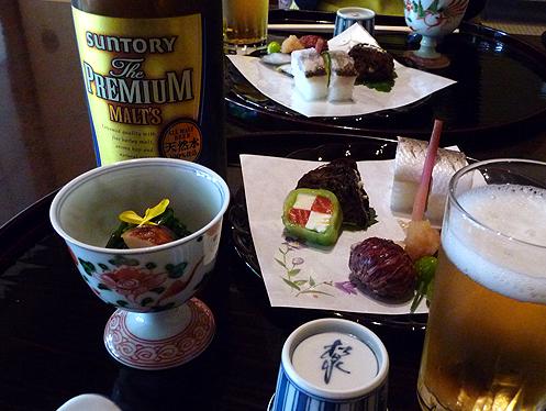 前菜とビール