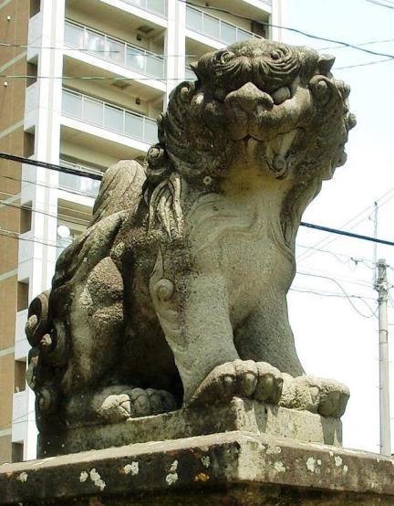 長野県松本市深志3丁目_富士浅間神社の狛犬 (4)