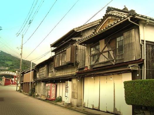 愛媛県大洲市_長浜商店街の昔の町並み