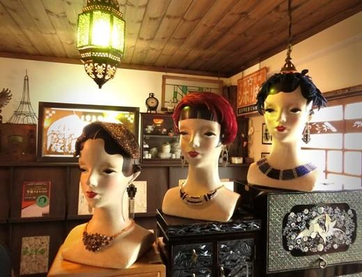 花園商店_モダンガールのヘッドマネキン (2)