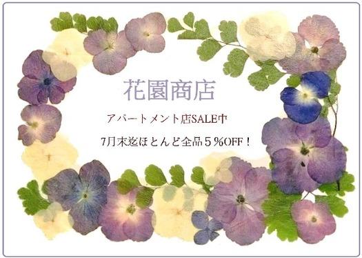紫陽花の押し花フレーム (3)