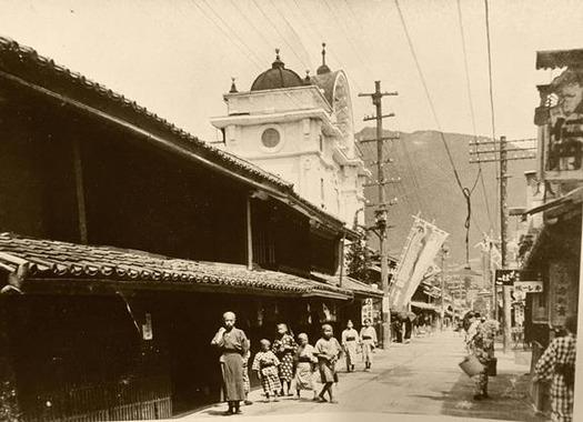 戦前の北国街道柳町 (1)