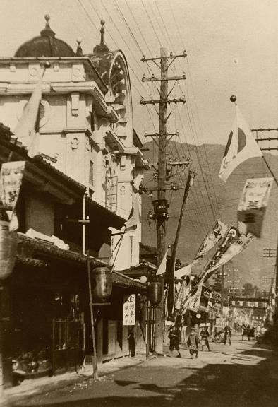 戦前の北国街道柳町 (2)