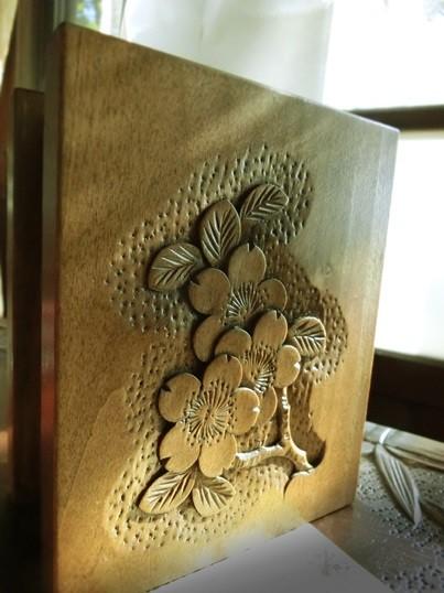 カフヱ—花園の軽井沢彫 (6)