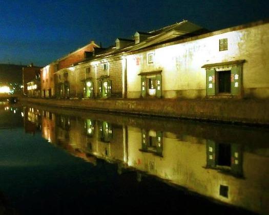 夜の小樽運河 (8)