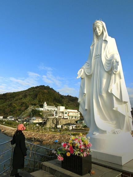 神の島教会_岬のマリア像 (8)
