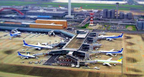 羽田空港上空