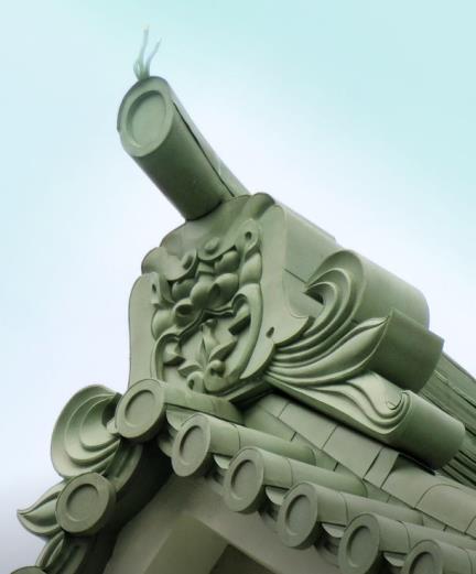 東京都墨田区横網_東京都慰霊堂_鳥と鬼瓦 (3)