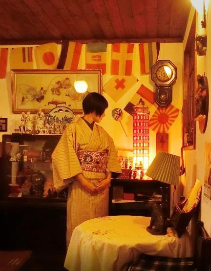 花園商店アパートメント店_上田紬と型染め帯 (2)