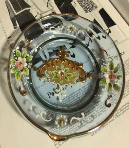 ベネチアンガラスの灰皿 (1)