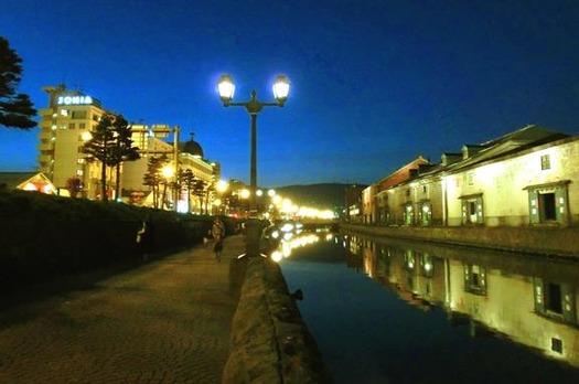 夜の小樽運河 (6)