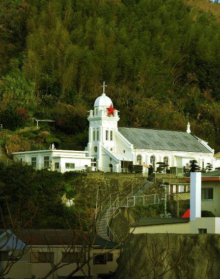 神の島教会_岬のマリア像 (2)